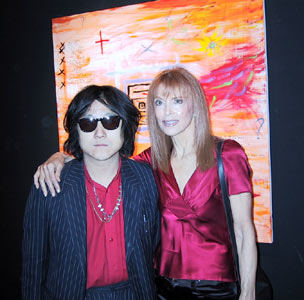 Tina with Hiroya (the Gallery owner)